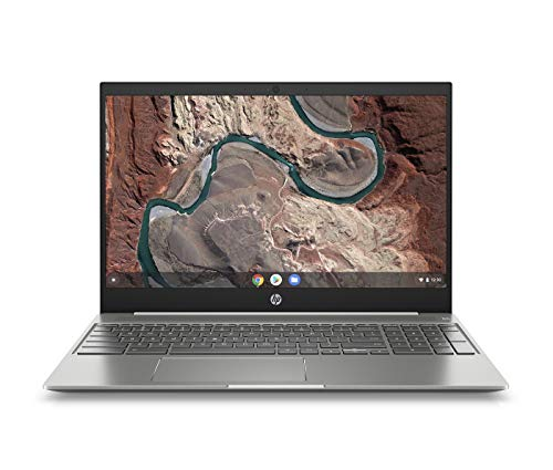 HP Chromebook 15-de0015ng (15,6 Zoll / Full HD) Chromebook (ChromeOS, Intel Core i5-8250U, 128GB eMMC, 12 Monate kostenlos 100 GB Speicherplatz bei Google One, Intel UHD Grafik) weiß/silber