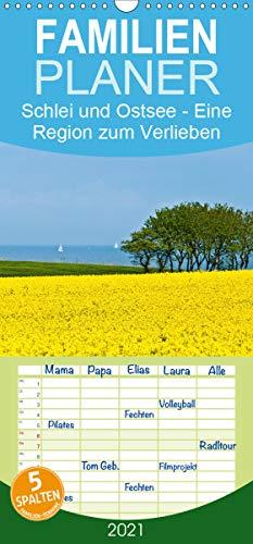 Schlei und Ostsee - Eine Region zum Verlieben - Familienplaner hoch (Wandkalender 2021, 21 cm x 45 cm, hoch)