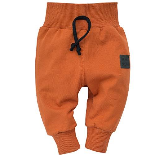 Pinokio - Bears Club - Leggings mit elastischer Bund Jungen Unisex Baby Kinder Hosen Kariert Braun 95% Baumwolle Jogginghose Haremshose 62-104 (62, Braun)