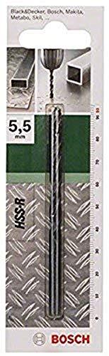 Bosch Home and Garden 2 609 255 012 Broca para metal HSS-R, DIN 338, 5.5 mm