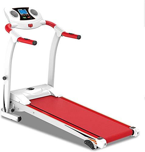 Wghz Ttreadmills, Cinta de Correr, Marco de Acero Plegable Ttreadmills, inclinación Ajustable, Ejercicio físico, Cardio, Jogging, Sistema de Emergencia, Agarre Manual, Rojo