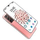 YouthRM Teléfono Inteligente Android 11 con Huella Dactilar Desbloqueada Note30 Ultra 5G, 12GB RAM 512GB ROM, 5800mAh Batería Pantalla de Gota de Agua de 6.9 '', Dual SIM + SD (3 Ranuras),Pink