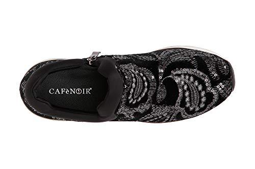 Cafè Noir JDD913010350 I18.010 Nero 35 Sneakers Slip ON IN Besticktes SAMT