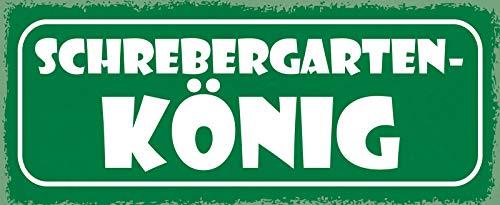Deko7 Plaque en tôle Motif Jardin de Schrebergarten 27 x 10 cm