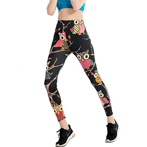 Morbuy Damen Leggings, Sport Gym Yoga Workout Pants Basic Fitness Hohe Taille Jogginghose Trainingshose Skinny Hosen Hose Sporthose (XL,...