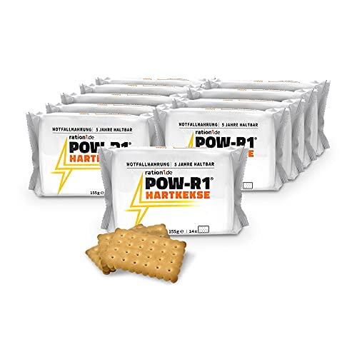 ration1 POW-R1® Hartkekse – der ultimative Energiekick in der 10er Vorteilspackung – jeder Einzelpack enthält 14 Trekkingkekse (Insgesamt 140 Panzerplatten / Trekkingkekse / Hartkekse)