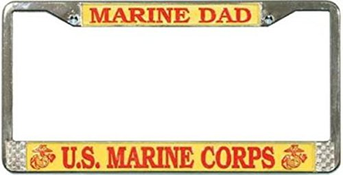 TAG FRAMES (MILITARY) U.S. Marine DAD License Plate Frame (Chrome)