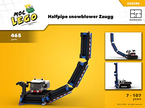 Halfpipe snowblower Zaugg (Instruction Only): MOC LEGO (English Edition)