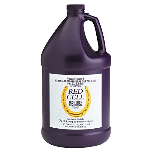 Horse Health Red Cell Iron-Rich Vitamin-Mineral Supplement, Industry Standard Vitamin-Mineral Liquid for Fueling Horses of All Ages, 1 gallon