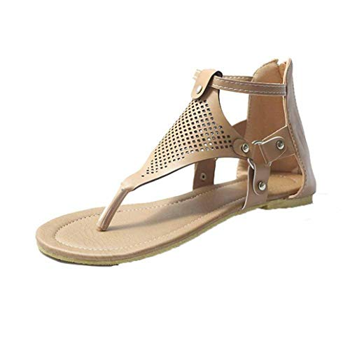 Lady Gladiator Sandals Cross Tie Casual Summer Beaches Zipper Strass Thin Bottom Side Hollow Retro Flip Flops