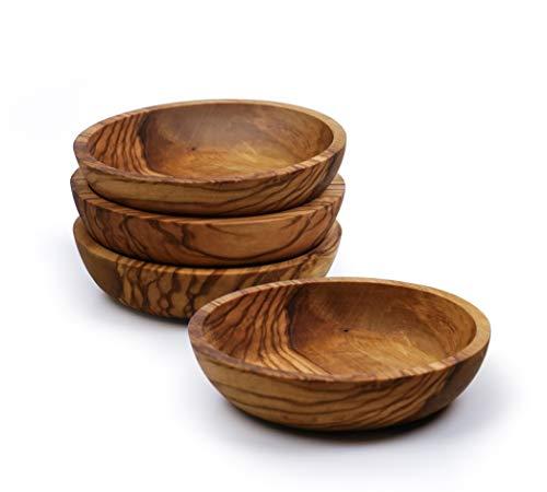 RSVP - Juego de 4 cuencos de madera de olivo
