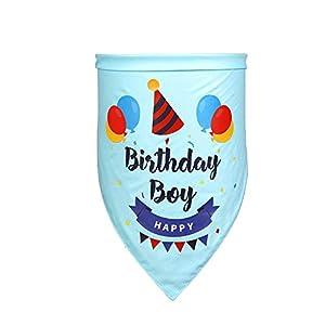 CROWNY Dog Bandana for Dog Birthday Party – Dog Birthday Bandana for Small, Medium, Large Dogs, Bandana for Dogs Puppy Birthday Party, Boy/Girl Dog Happy Birthday Bandana