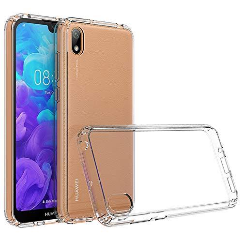 betterfon   Huawei Y5 2019 Hülle Stoßfeste Outdoor Transparent Cover Handy Tasche Silikon Hülle TPU Silikon Kristal Schutzhülle für Huawei Y5 2019