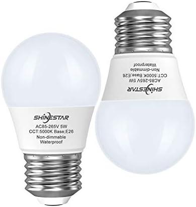SHINESTAR 2 Pack LED Refrigerator Bulbs 40W 120V Daylight 5000K E26 Base A15 LED Appliance Light product image