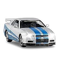 1/32 1/36に適用するSKYLINEダイキャストモデルカーシミュレーション車両モデル合金プルバック子供用おもちゃコレクションギフト音響光学 ダイキャストカー (Color : 5)