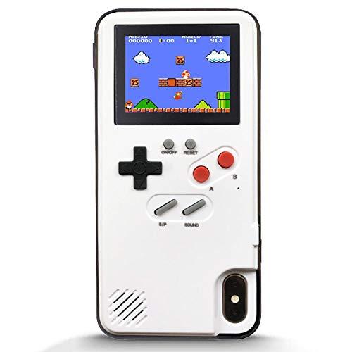 QTRT Adecuada for Samsung S10 / S10 caja del teléfono del Juego Plus, caso de la nota de la cubierta de silicona del estilo del diseño retro Plus 3D Game Boy 10 Con 36 Juegos pequeña pantalla en color