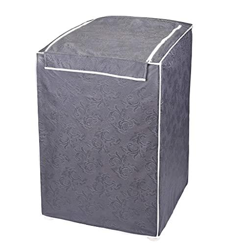 Capa Para Máquina De Lavar Roupas Adomes M3004 Tampa Com Zíper 12 A 16 Kg > CINZA > UNICA