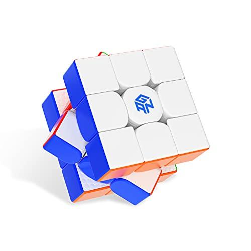 GAN11 M, 3x3 Magnetic Speed Cube Stickerless Gans Magic Cube Stickerless Cube Frosted Surface(Primary Internal)