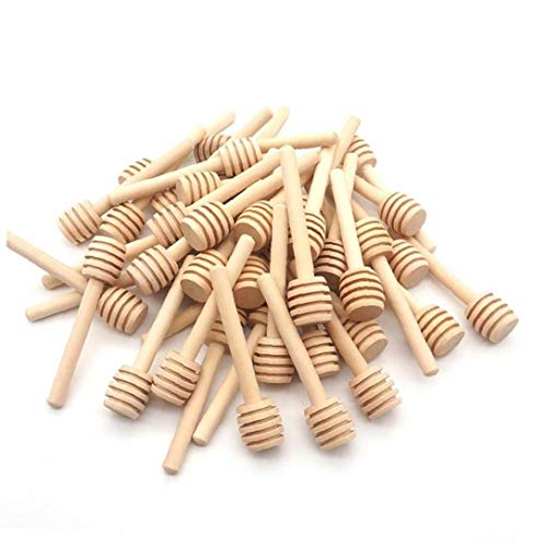 Miel Cuchara mini portátil cazo de madera de agitación Sticks Bar tarro de mezcla de herramientas para la cocina 50PCS utensilios de cocina Gadgets