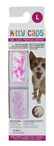 Kitty Caps Nail Caps for Cats | Safe, Stylish & Humane Alternative to Declawing | Stops Snags and...