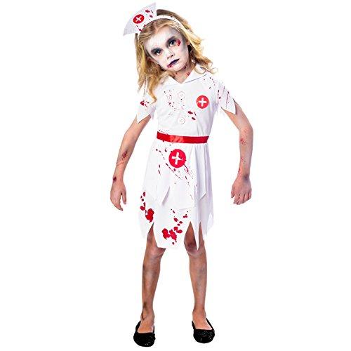 amscan 9902684 Disfraz de enfermera zombi para nia de 11 a 12 aos, 1 unidad