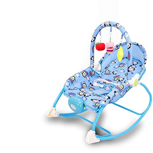 Xiao Jian- Fauteuil à Bascule pour bébé Réconfortant Allongé Berceau Lit Shaker Section de Musique Bleu Vert Rose Chaise berçante bébé (Couleur : Bleu)
