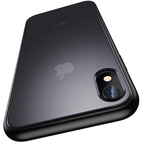 """Meifigno Magic Series Designed for iPhone XR Case, [Military Grade Drop Tested], Translucent Matte PC with Soft Edges, Shockproof and Protective Phone Case Compatible with iPhone XR 6.1"""", Black"""