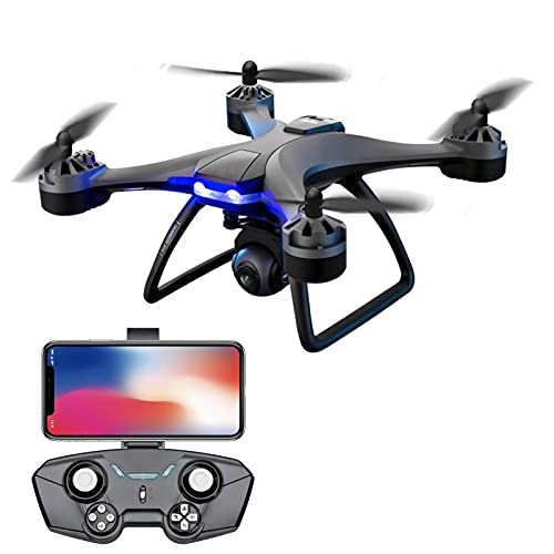 JJDSN RC Drone with 6K HD Camera for Adults, Drones with VR Glasses + Storage Bag 1000m Distance Remote Control RC Quadcopter,4Battery