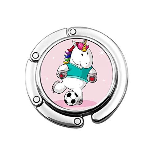 Unicornio de Dibujos Animados Jugar fútbol Bolso de suspensión portátil Bolso de Mesa Diseños únicos Sección Plegable Colgador de Bolsa de Almacenamiento para niños