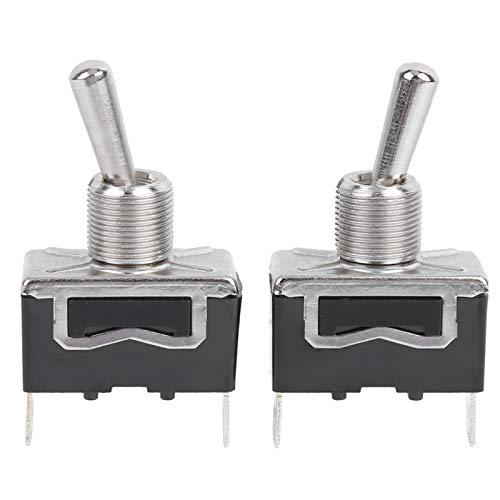 Interruptor basculante de encendido y apagado, 2 pines, 2 niveles, LED, 250 V CA para generador