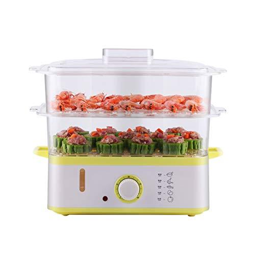 HSART Vaporiera per Alimenti Domestici, vaporiere elettriche a 3 Livelli per Cucinare Verdure e cibi sani Funzione Fast, Vapore istantaneo e contenitori con Serratura da 9 Litri