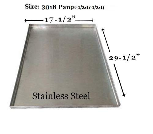 Pinnacle Systems Crate Dog Metal Pan Dog Tray Metal Tray for Dog Crate Pan for Dog Galvanized Tray Heavy Duty Crack Proof - Central Metal 3018 Mini-Fold, Regular Fold - GL - 29 1/2