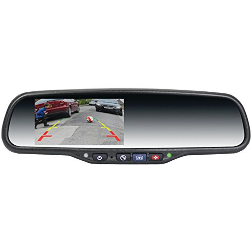 "Crimestopper SV-9162 GM OnStar Replacement Rear View Mirror with backlit 4.3"" LCD Display and full function remote"