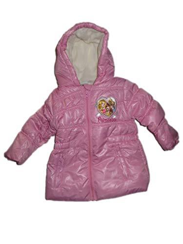 Disney baby - Princess - Jacke Winter mit Futter (Vollfleecefutter) und Kapuze, Mädchen Anorak, rosa (6 Monate)