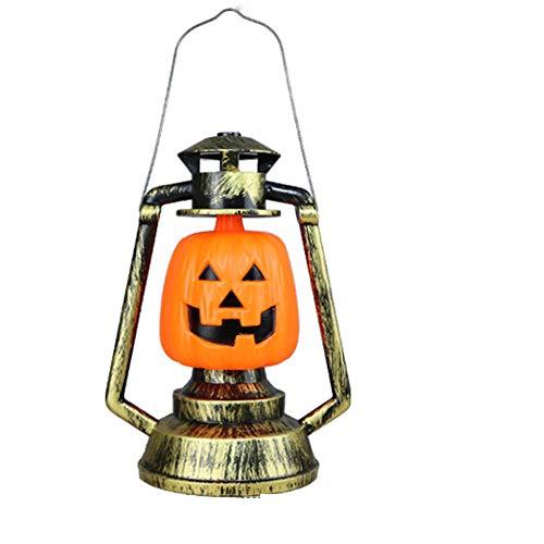 wscmd - Farol de Calabaza de Halloween, lámpara de Queroseno, Vintage, Retro, portátil, para jardín, Exterior, Patio, Patio, árbol de Navidad, Fiesta, Escena