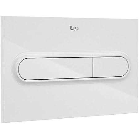 Roca A890195000 Placa Accionamiento Descarga, PL1 Dual One, Blanco