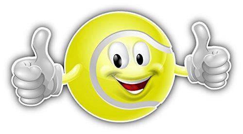 Happy Tennis Ball Mascot Auto-Dekor-Vinylaufkleber 15 X 8 cm