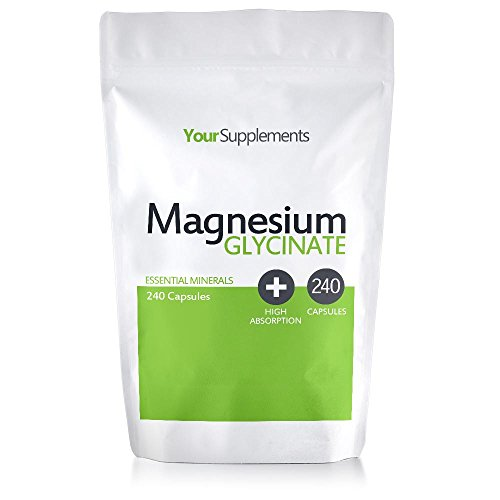 Your Supplements - Magnesium Glycinat - 240 Kapseln - Vegetarier & Nicht-GVO