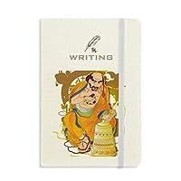 仏教の十八羅漢図のパターン ノートブッククラシックジャーナル日記A 5を書く