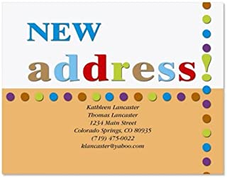 New Address Moving Announcements Postcards - Set of 24, Personalized with Address, 5-1/4