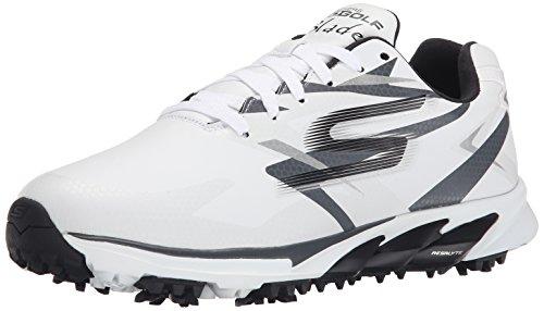 Skechers Performance Men's Go Golf Blade Golf Shoe,White/Charcoal,8.5 M US