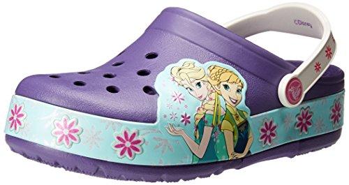 Crocs CrocsLights Frozen Fever Clog Kids, Mädchen Clogs, Violett (Blue Violet), 22/23 EU