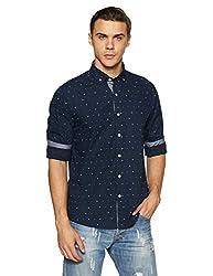 Nautica Mens Printed Slim Fit Casual Shirt