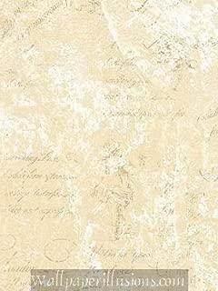 5813266 SAMPLE 8x10 INCHES Pearl and Cream Script Village Paper Illusions QVC Wallpaper Torn Faux Finish Wallpaper Illusion PaperIllusion SAMPLE