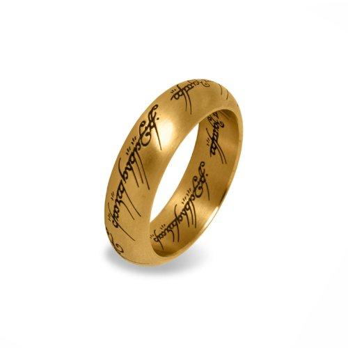 Herr der Ringe - Der Eine Ring Edelstahl vergoldet in prachtvollem Schmuckdisplay aus Metall - 63