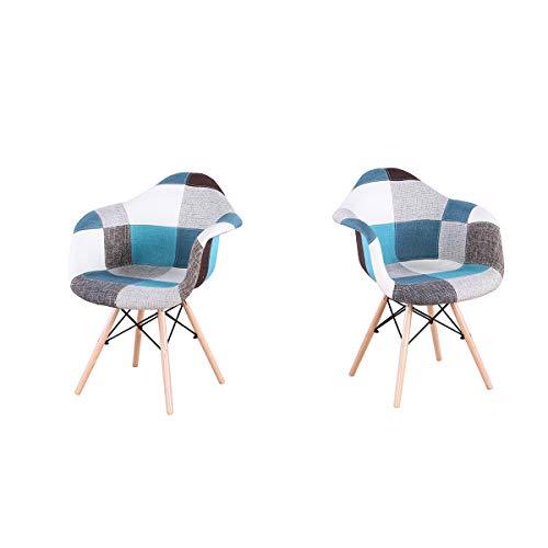 GroBKau - Juego 2 sillones Comedor Modernos Mediados