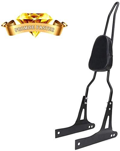 Detachable Backrest Sissy Bar + Luggage Rack For Harley Dyna Street Bob Super Glide Low Rider 2006-up black (Other Black)