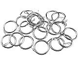 20 anelli per tenda da doccia, 25 mm, in metallo