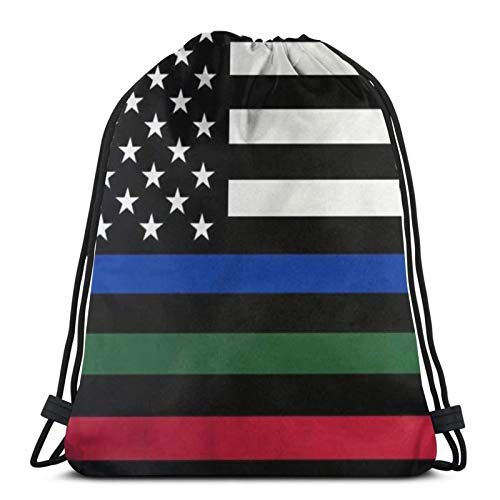 fenrris65 Mochila con cordón de terileno para hombre y mujer con diseño de la bandera estadounidense, color rojo y azul