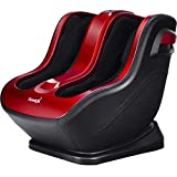 Giantex Shiatsu Foot Calf Massager Machine Leg Massage with Portable Handle Kneading Deeping Rolling Vibration Therapy Muscle Relief Mechanistic Control Feet Massagers (Red & Black)